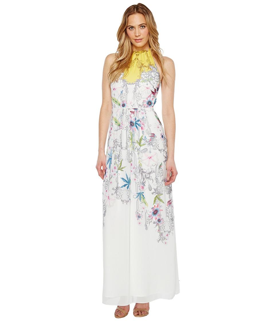 Ted Baker - Ellly Passion Flower Maxi Dress (Yellow) Women's Dress
