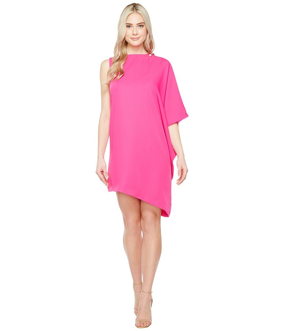 Ted Baker Aubreey Oversized Drape Front Dress (Fuchsia) Women