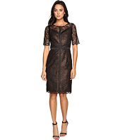 NUE by Shani - Lace Dress with Black Piping Detail