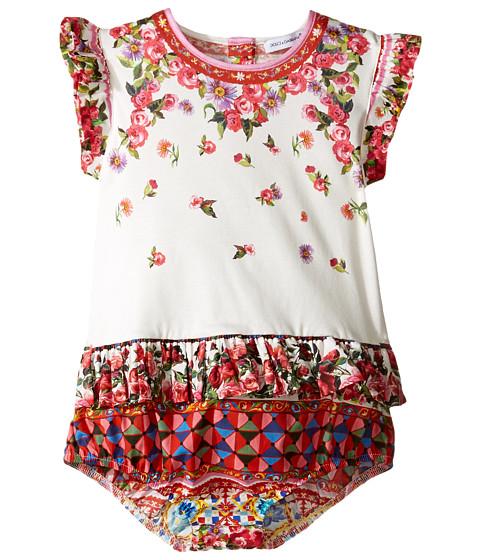 Dolce & Gabbana Kids Mambo Ruffle One-Piece (Infant)