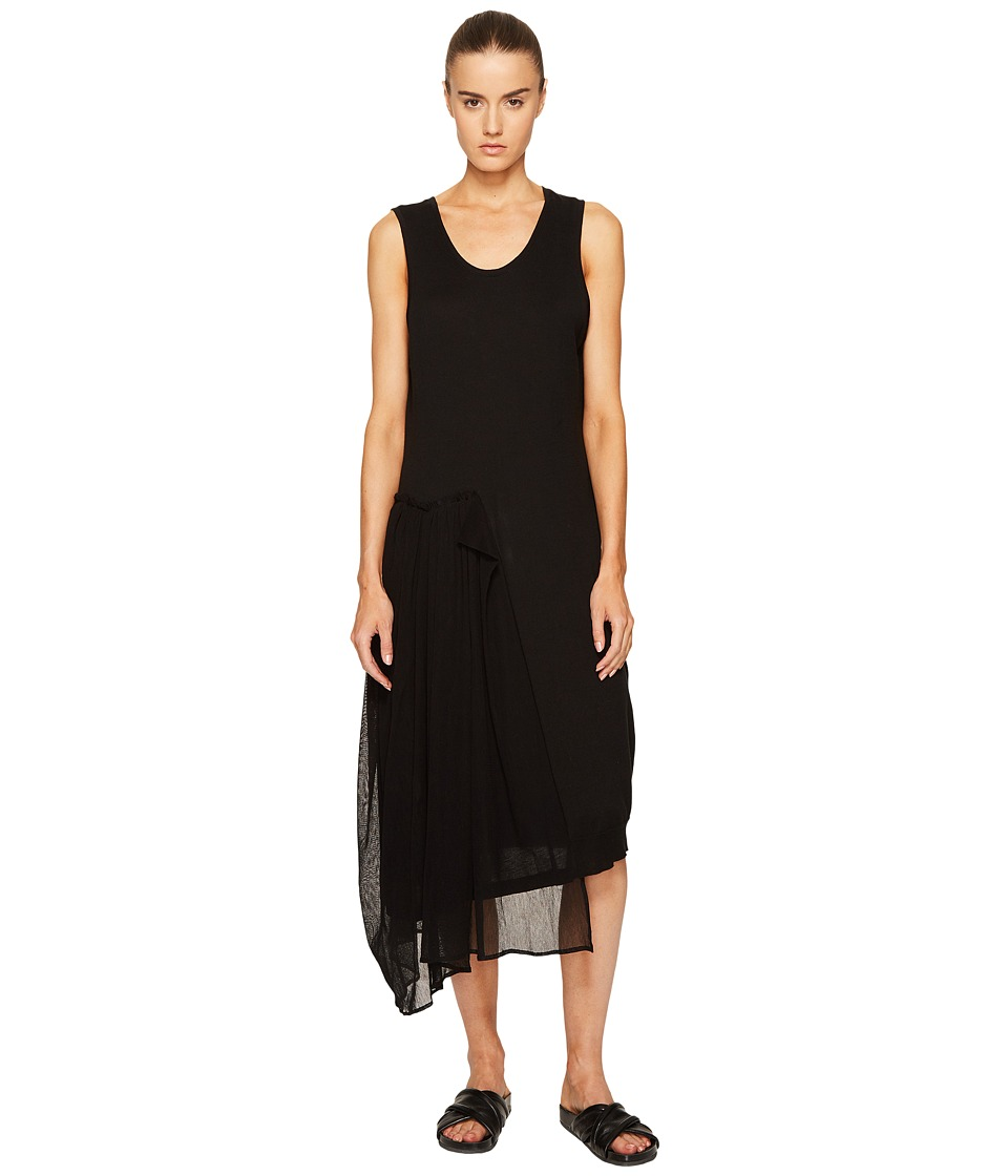 Y's by Yohji Yamamoto - U-Knit Sheer Combo Tank Dress