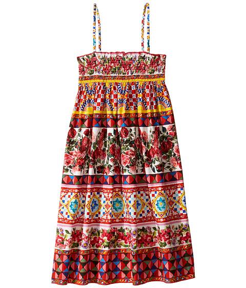 Dolce & Gabbana Kids Mambo Poplin Dress (Big Kids)