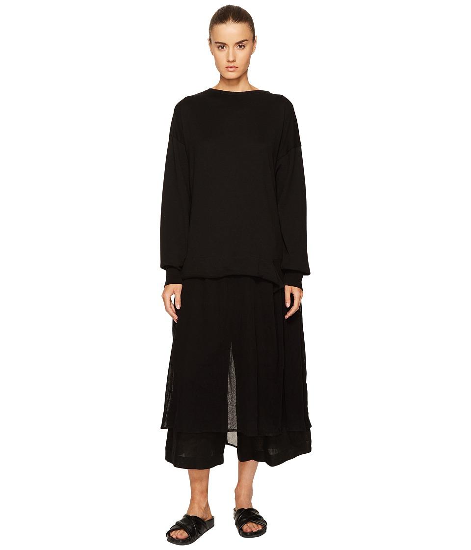 Y's by Yohji Yamamoto - U-Pullover Sheer Bottom Dress