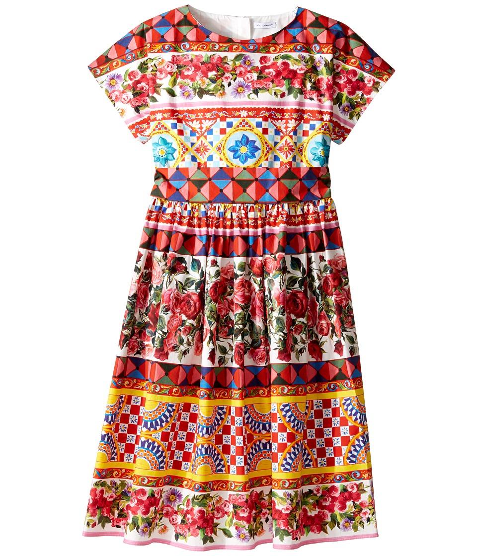 Dolce & Gabbana Kids - Mambo Short Sleeve Poplin Dress