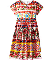 Dolce & Gabbana Kids - Mambo Short Sleeve Poplin Dress (Big Kids)