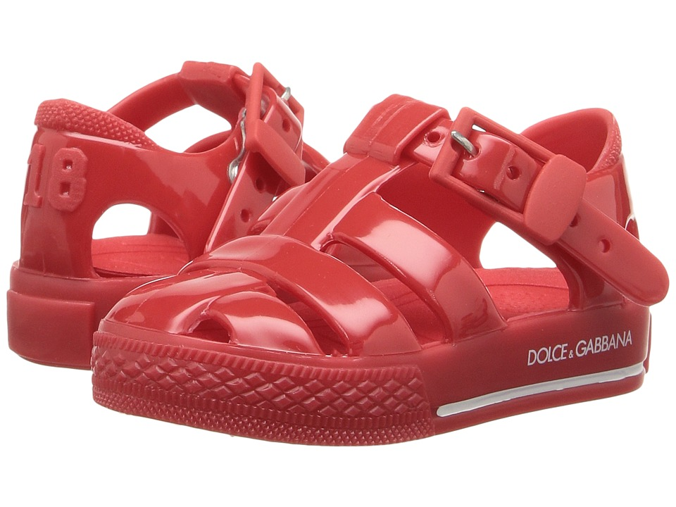 Dolce & Gabbana Kids Mare PVC Sandal (Infant/Toddler/Little Kid) (Red) Kids Shoes