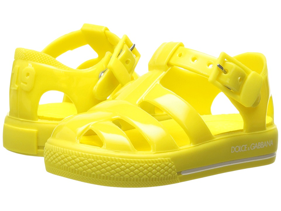 Dolce & Gabbana Kids Mare PVC Sandal (Infant/Toddler/Little Kid) (Yellow) Kids Shoes
