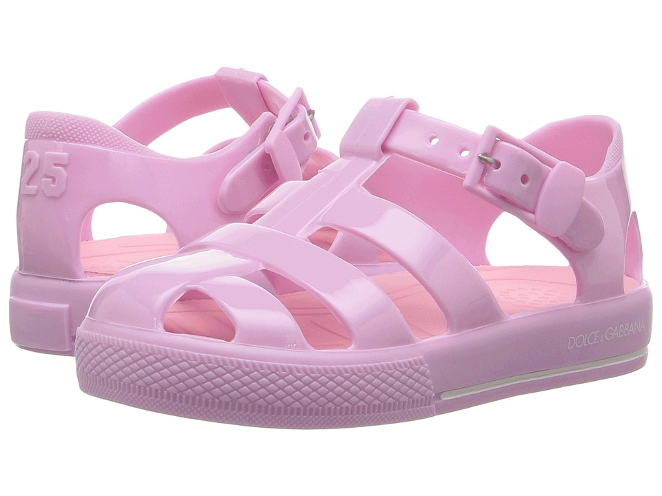 Dolce + Gabbana Kids Mare PVC Sandal (Infant/Toddler/Little Kid) (Pink) Kids Shoes