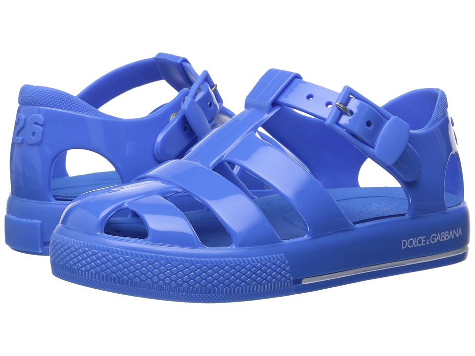 Dolce & Gabbana Kids Mare PVC Sandal (Infant/Toddler/Little Kid) (Light Blue) Kids Shoes