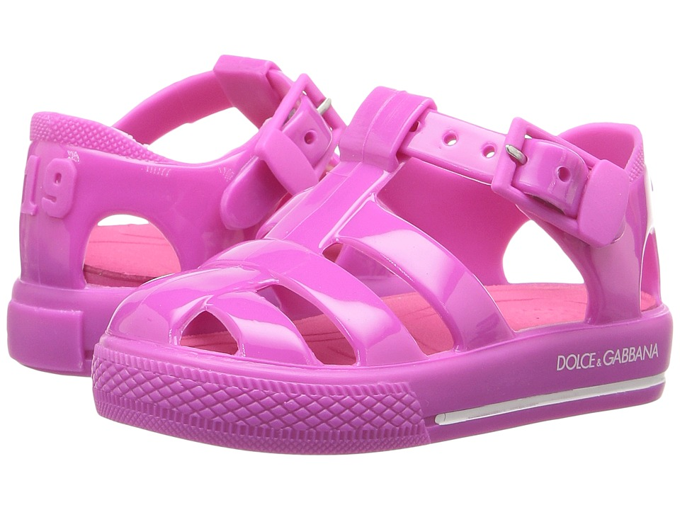 Dolce & Gabbana Kids Mare PVC Sandal (Infant/Toddler/Little Kid) (Fuchsia) Kids Shoes