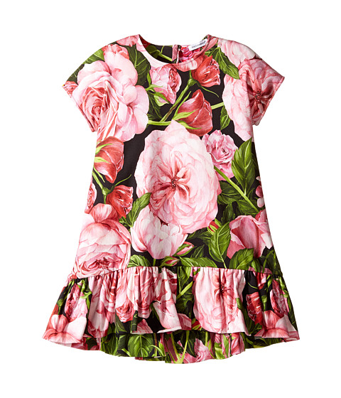 Dolce & Gabbana Kids Rose Interlock Dress (Toddler/Little Kids)
