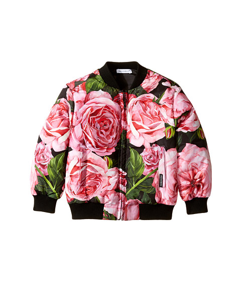 Dolce & Gabbana Kids Rose Bomber Jacket (Toddler/Little Kids)
