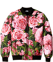 Dolce & Gabbana Kids - Rose Bomber Jacket (Big Kids)