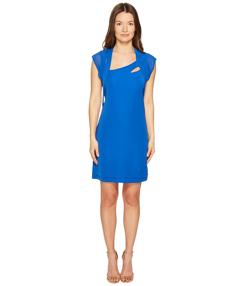 The Kooples Crepe Chiffon Dress (Blue) Women