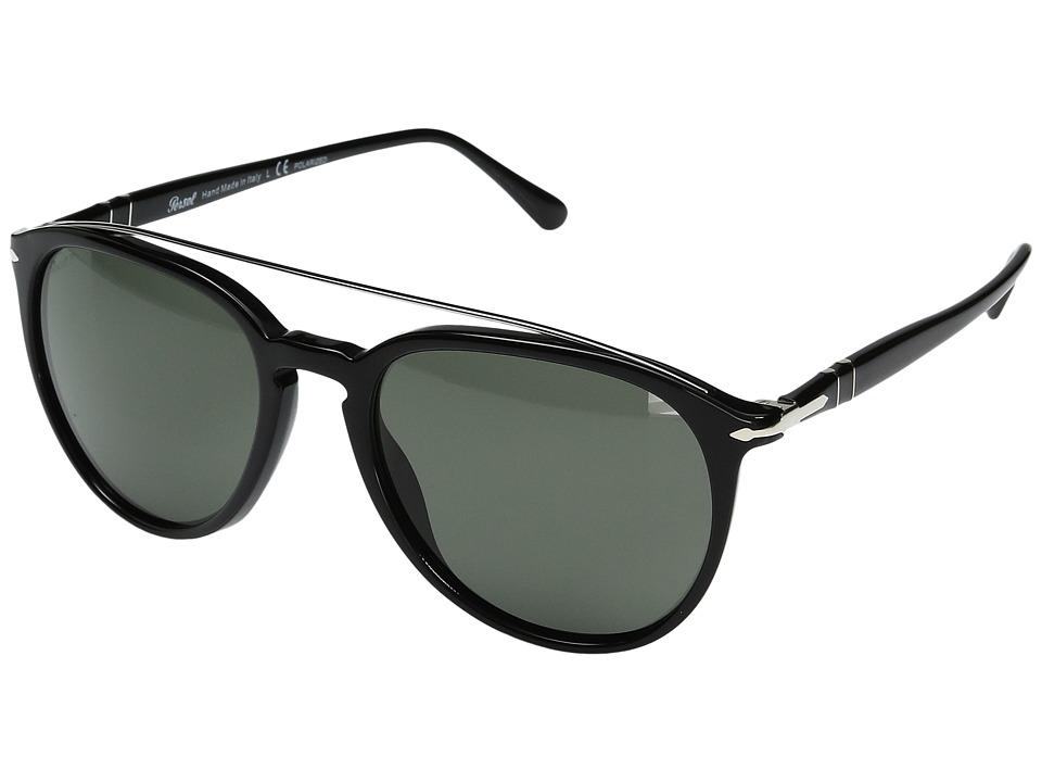 Persol - 0PO3159S (Black/Polarized Green) Fashion Sunglasses