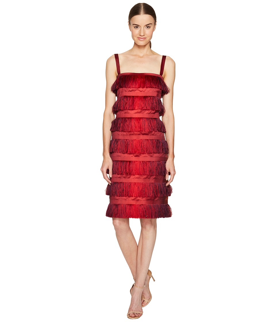 Alberta Ferretti Alberta Ferretti - Sleeveless Tiered Fringe Dress