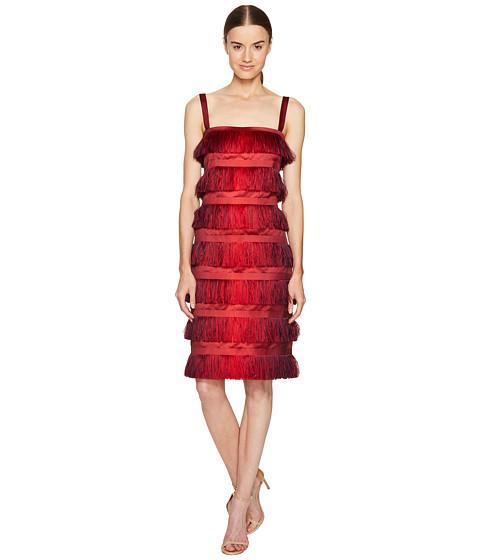 Alberta Ferretti Sleeveless Tiered Fringe Dress