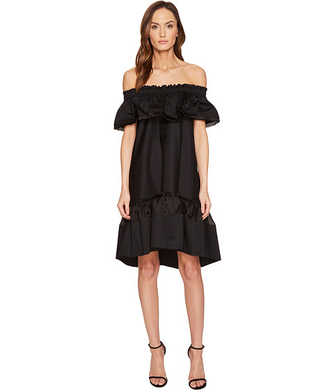 Alberta Ferretti Off the Shoulder High-Low Dress