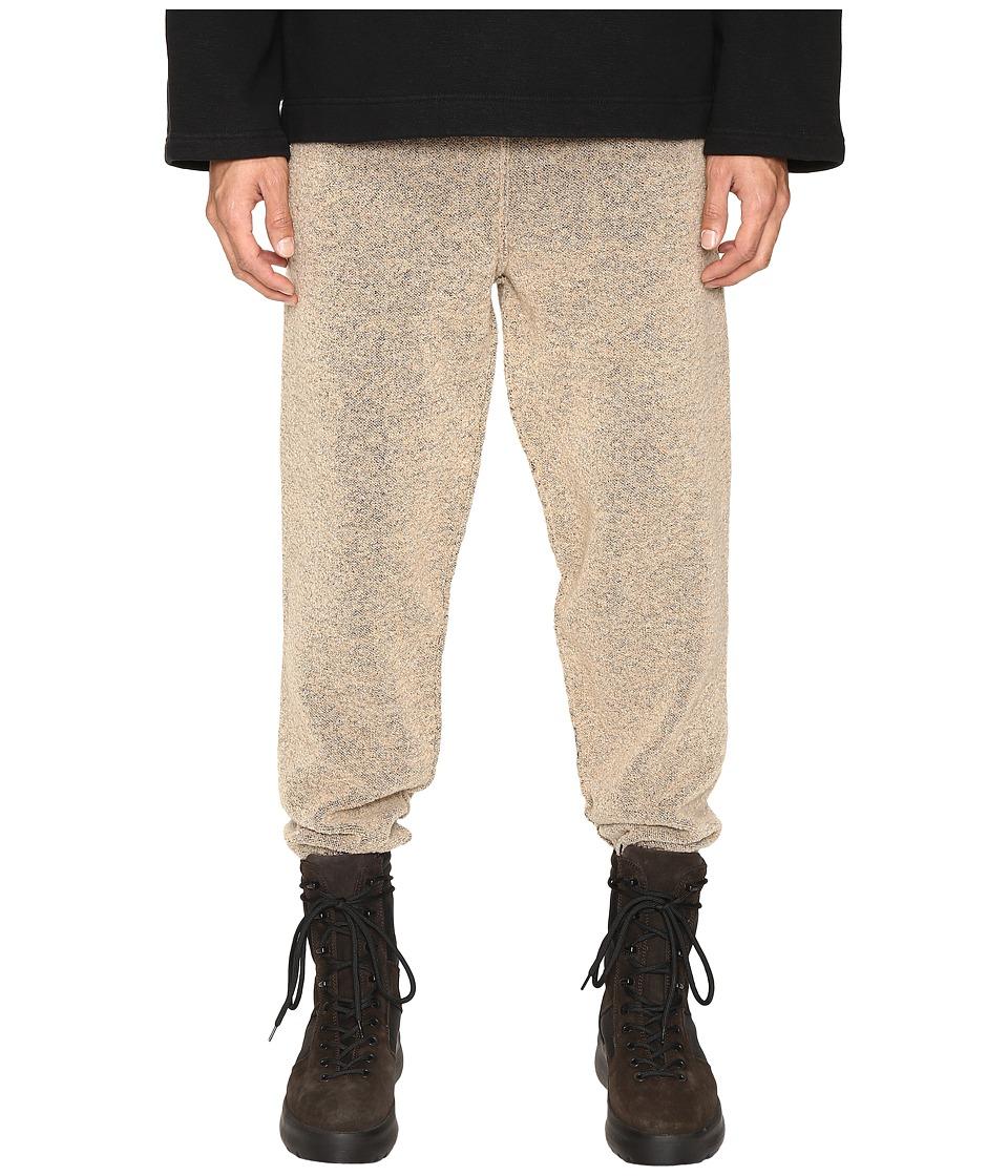 Image of adidas Originals by Kanye West YEEZY SEASON 1 - Knit Pants (Brown) Men's Casual Pants
