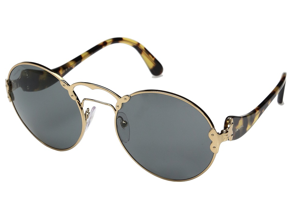Prada 0PR 55TS (Antique Gold/Grey) Fashion Sunglasses