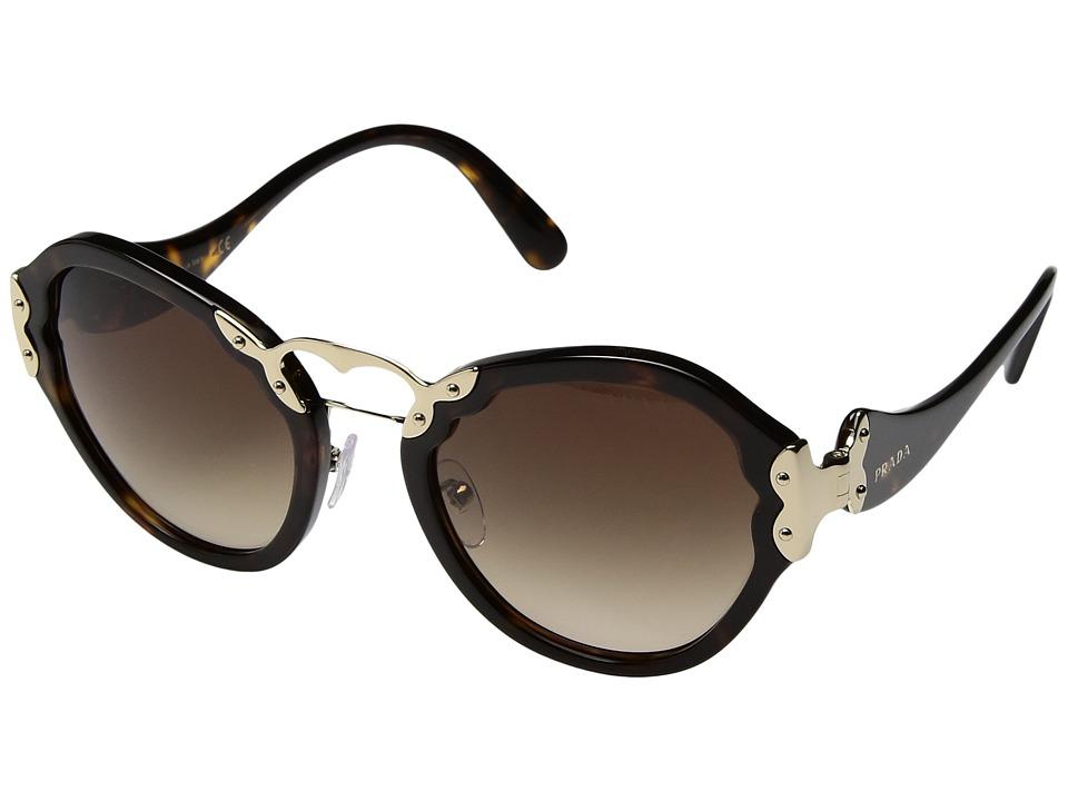 Prada 0PR 09TS (Havana/Brown Gradient) Fashion Sunglasses