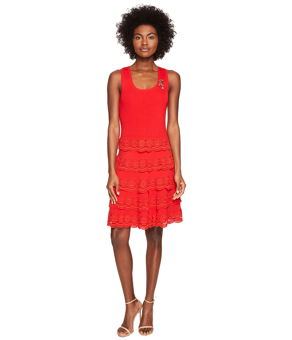 The Kooples Robe Sans Manches En Maille Dress (Red) Women