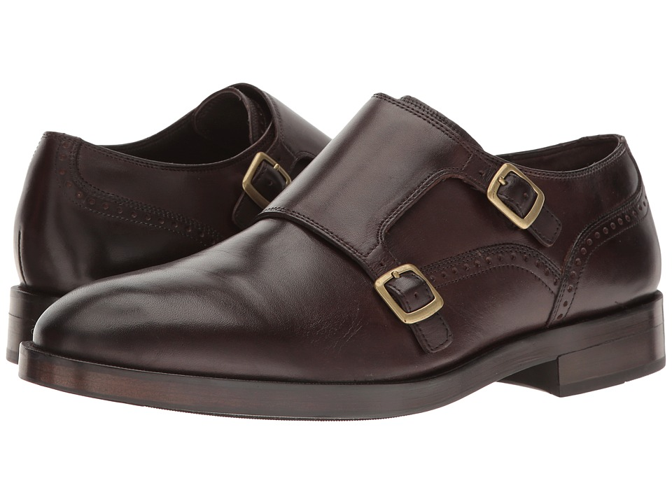 Cole Haan Harrison Grand Double Monk (Dark Brown/Dark Brown) Men