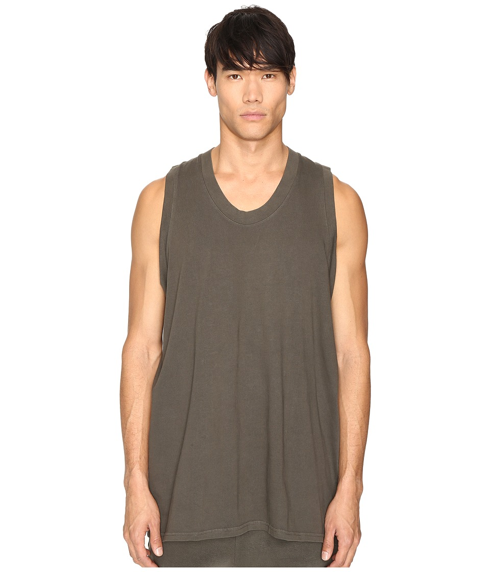 Image of adidas Originals by Kanye West YEEZY SEASON 1 - Jersey Tank Top (Beluga) Men's Sleeveless
