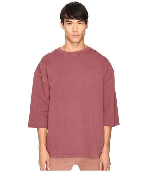 adidas Originals by Kanye West YEEZY SEASON 1 Short Sleeve Sweatshirt Tee - Oxblood Red