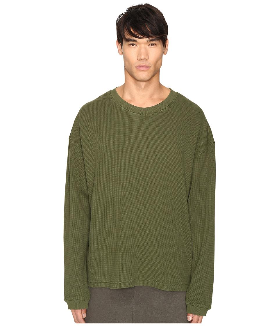 adidas Originals by Kanye West YEEZY SEASON 1 Long Sleeve Thermal Tee (Rifle Green) Men
