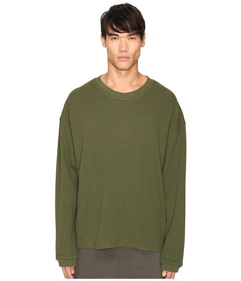 adidas Originals by Kanye West YEEZY SEASON 1 Long Sleeve Thermal Tee - Rifle Green