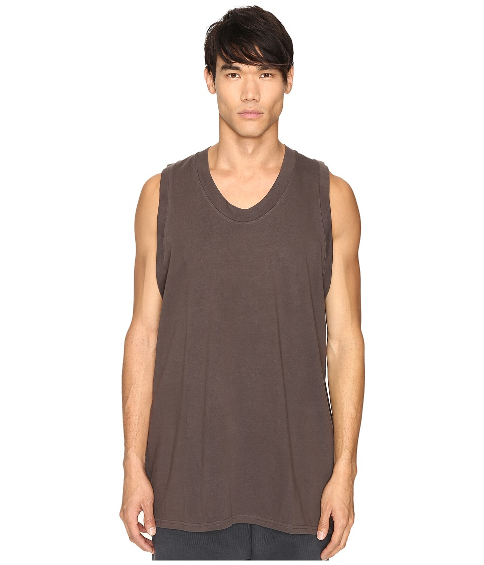 Image of adidas Originals by Kanye West YEEZY SEASON 1 - Jersey Tank Top (Mole) Men's Sleeveless
