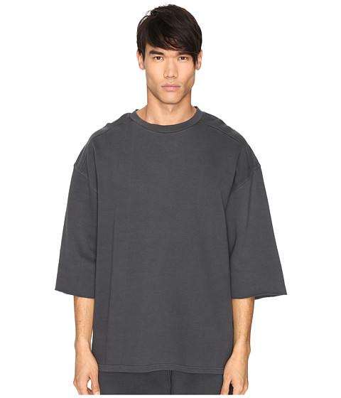 adidas Originals by Kanye West YEEZY SEASON 1 Short Sleeve Sweatshirt Tee - Caviar