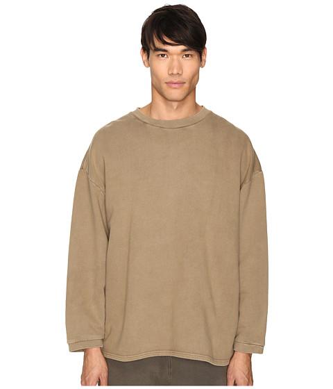 adidas Originals by Kanye West YEEZY SEASON 1 Long Sleeve Crew Shirt - Fossil