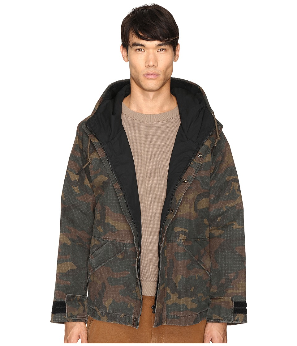 Image of adidas Originals by Kanye West YEEZY SEASON 1 - Hooded Jacket (Camo) Men's Coat