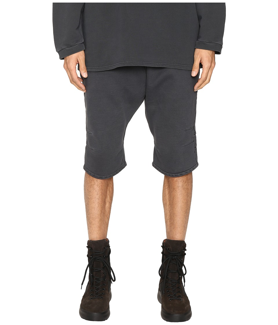 Image of adidas Originals by Kanye West YEEZY SEASON 1 - FJ Shorts (Caviar) Men's Shorts