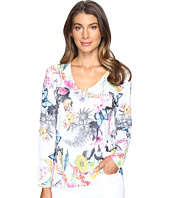 Nally & Millie - Butterfly Floral V-Neck Top