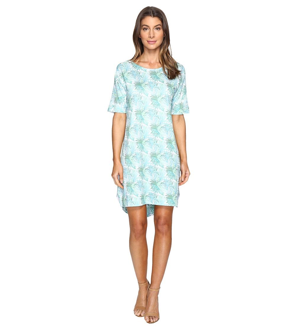 Nally & Millie - Tropical Leaf Elbow Sleeve Dress