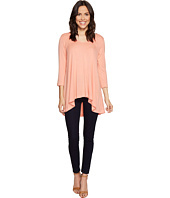 Nally & Millie - Rounded V-Neck Tunic