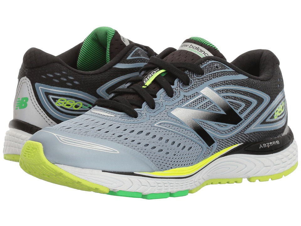 New Balance Kids KJ880V7 (Little Kid/Big Kid) (Grey/Green) Boy's Shoes