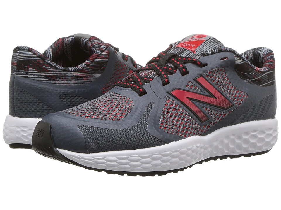 New Balance Kids KJ720v4 (Little Kid/Big Kid) (Grey/Red) Boys Shoes