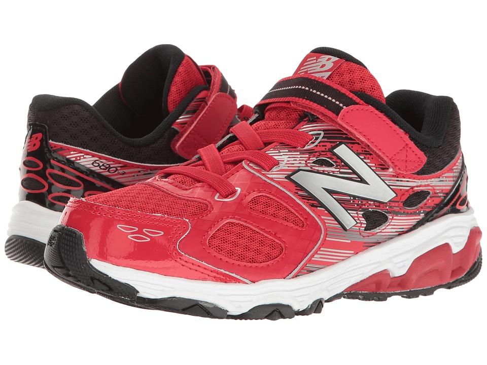New Balance Kids KA680v3 (Little Kid/Big Kid) (Red/Black) Boys Shoes
