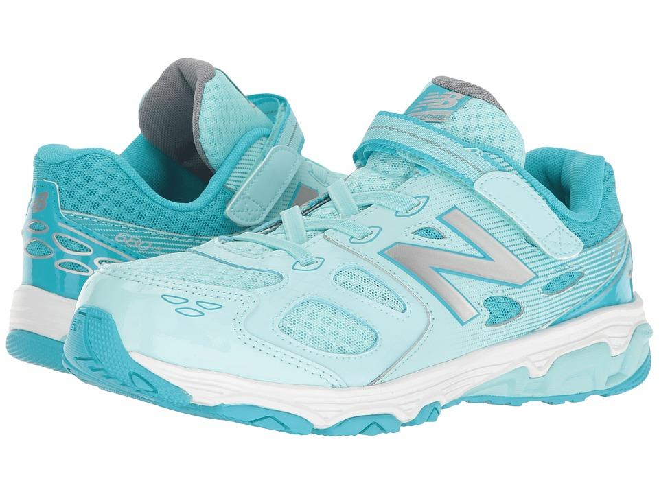 New Balance Kids KA680v3 (Little Kid/Big Kid) (Blue/White) Girls Shoes