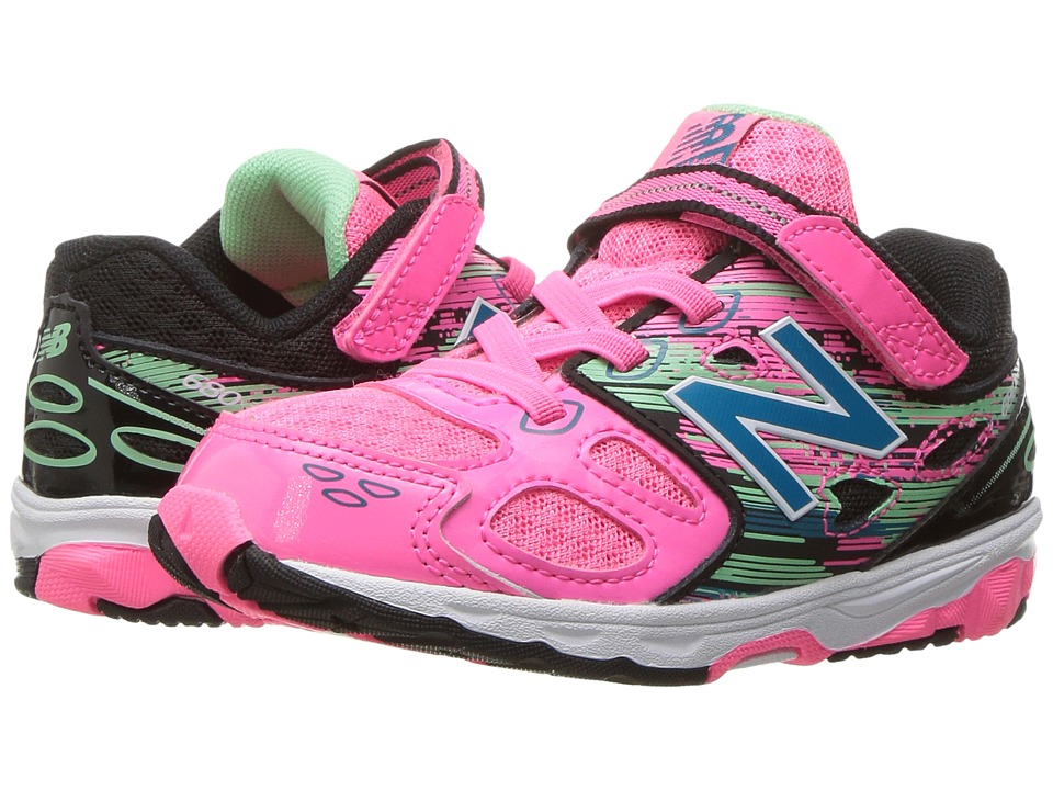 New Balance Kids KA680v3 (Infant/Toddler) (Pink/Black) Girls Shoes