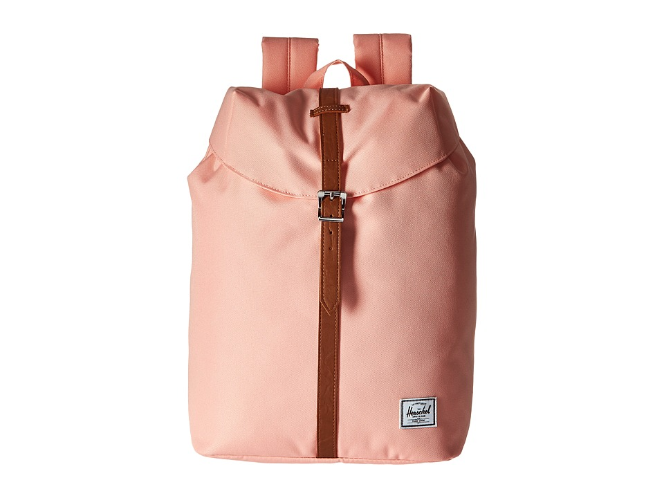 Herschel Supply Co. Post (Apricot Blush/Tan Synthetic Leather) Backpack Bags