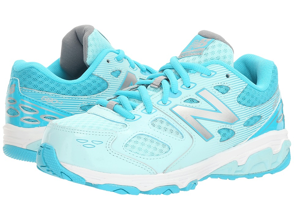New Balance Kids KR680v3 (Little Kid/Big Kid) (Blue/White) Girls Shoes