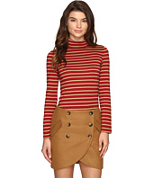 LAVEER - Striped Long Sleeve Turtleneck Top