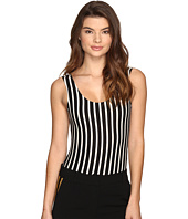 LAVEER - Striped Scoop Tank Bodysuit