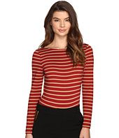 LAVEER - Striped Long Sleeve Scoop Bodysuit