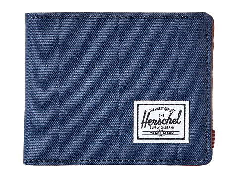 Herschel Supply Co. Hank RFID - Navy/Tan Synthetic Leather